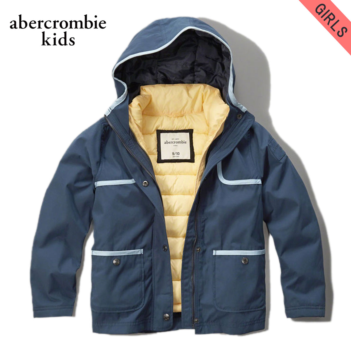15%OFFセール 【販売期間 12/4 20:00~12/11 1:59】 アバクロキッズ AbercrombieKids 正規品 子供服 ガールズ アウタージャケット 3-in-1 jacket 244-856-0205-023 D00S20