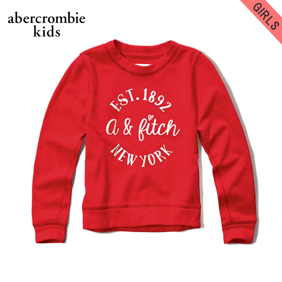 アバクロキッズ スウェット ガールズ 子供服 正規品 AbercrombieKids フリース shine logo graphic sweatshirt 252-767-0241-050