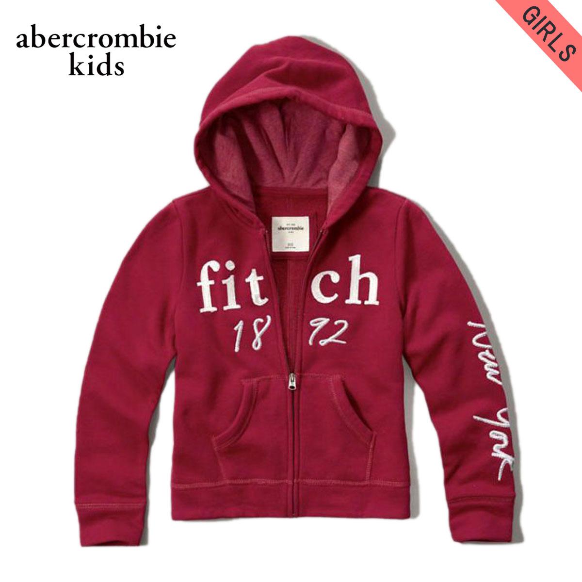 アバクロキッズ パーカー ガールズ 子供服 正規品 AbercrombieKids shine logo full-zip sweatshirt 252-771-0322-055