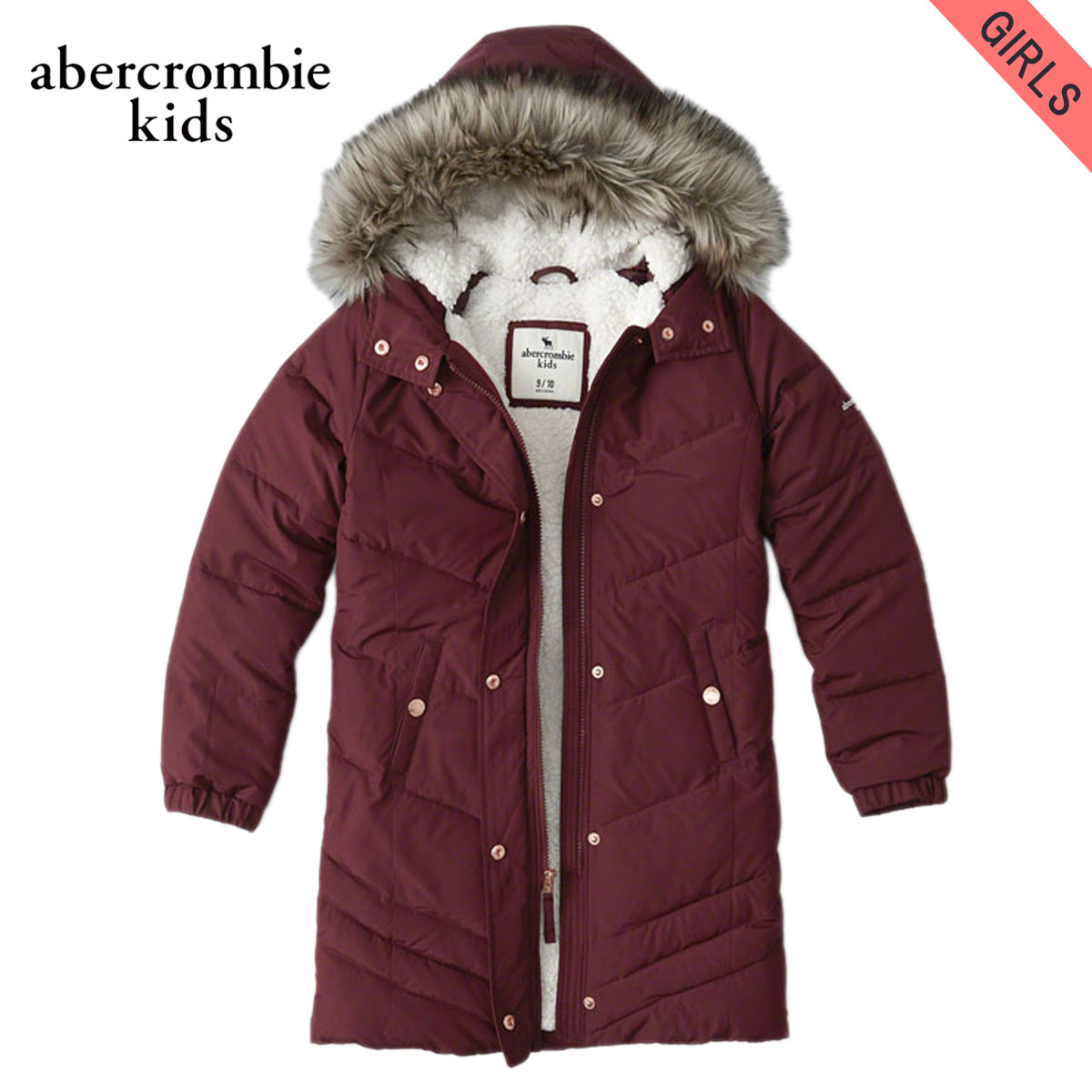 15%OFFセール 【販売期間 12/4 20:00~12/11 1:59】 アバクロキッズ AbercrombieKids 正規品 子供服 ガールズ コート sherpa-lined quilted parka 244-856-0221-052 D00S20