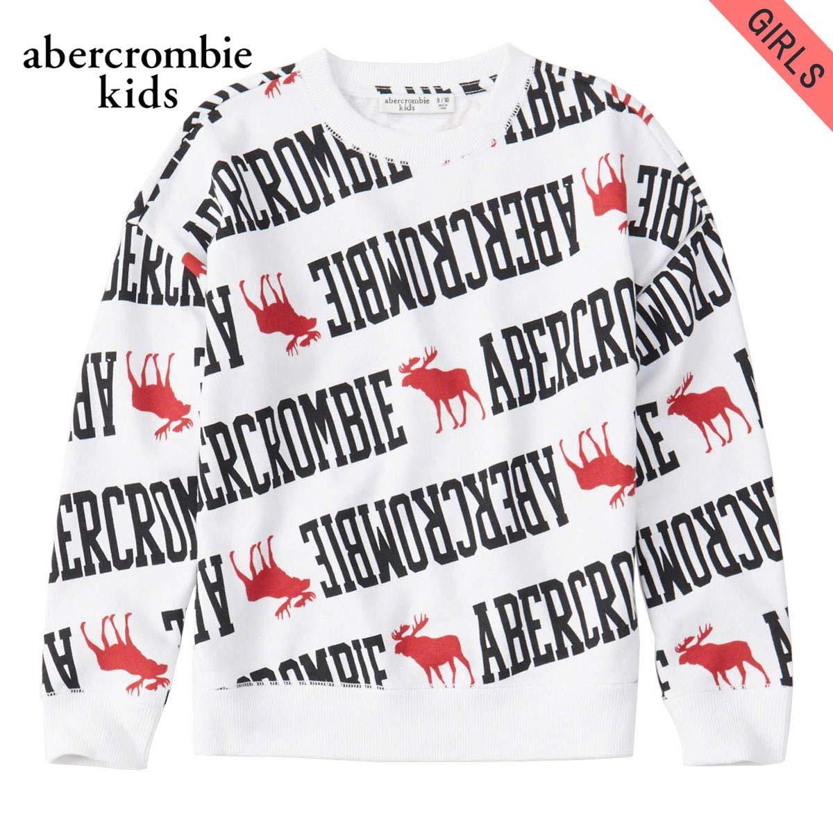 【ポイント10倍 1/1 00:00~1/5 23:59まで】 アバクロキッズ スウェット ガールズ 子供服 正規品 AbercrombieKids トレーナー トレーナー easy icon crew sweatshirt 252-772-0075-005