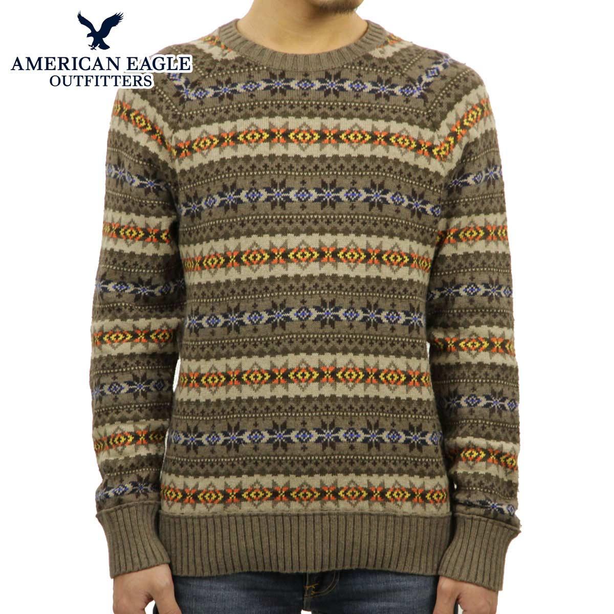 アメリカンイーグル セーター メンズ 正規品 AMERICAN EAGLE ニット 1145-9530 ブラウン