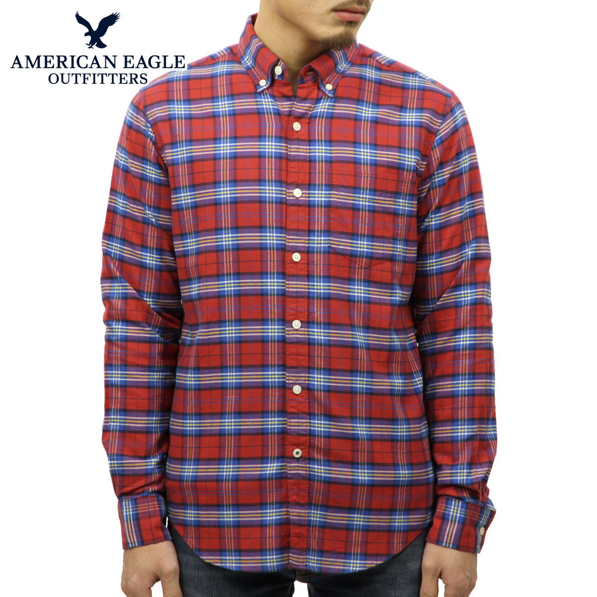 757c2a4d American eagle AMERICAN EAGLE regular article men long sleeves button-down  shirt AEO CLASSIC PLAID ...