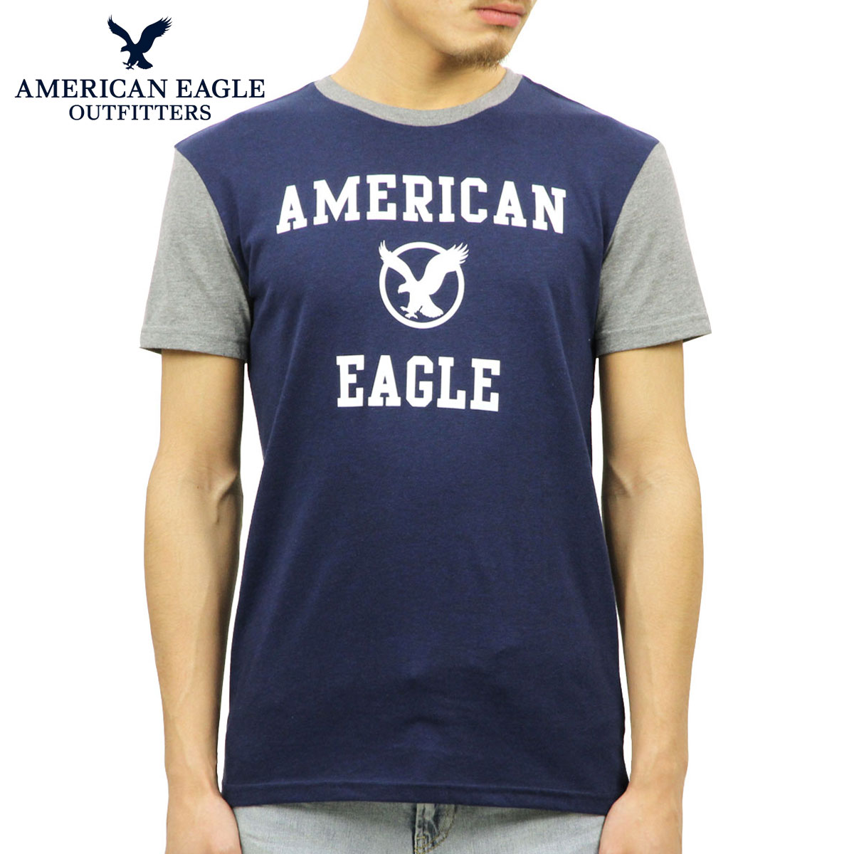 09f5d7d80 American eagle AMERICAN EAGLE regular article men crew neck short sleeves T-shirt  AE GRAPHIC ...