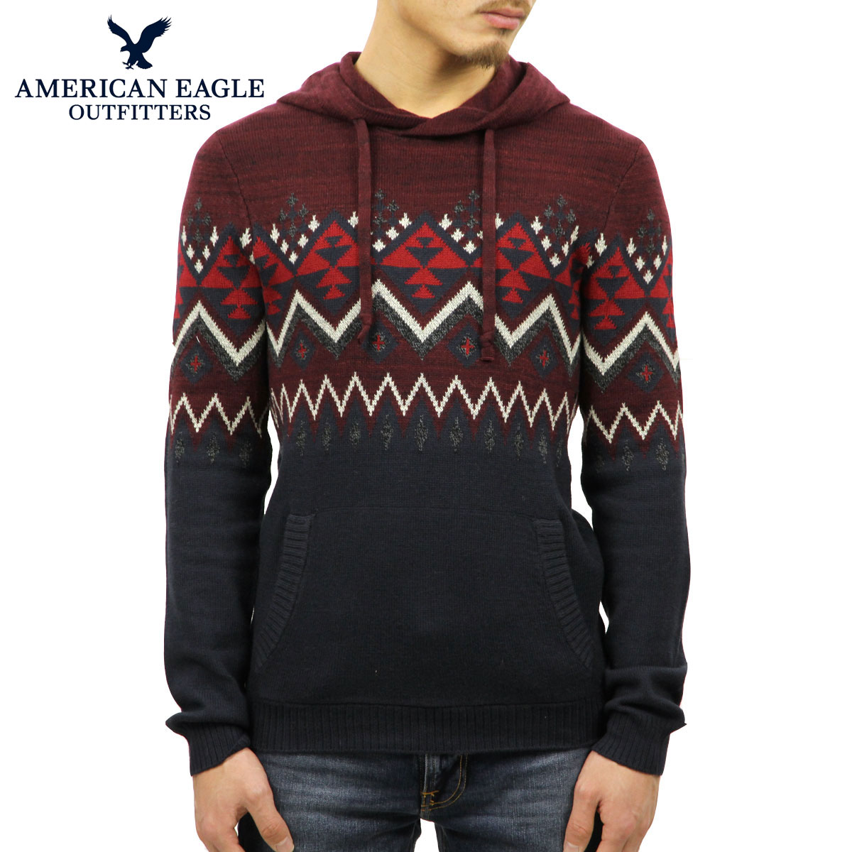 AMERICAN EAGLE メンズ プルオーバーパーカー セーター 正規品 アメリカンイーグル AE OUR BEST BAJA SWEATER 1149-1362-006