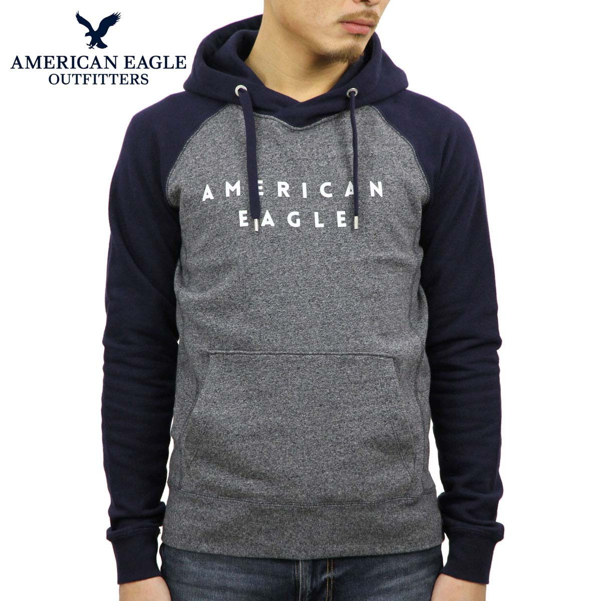 79bce19411f American eagle AMERICAN EAGLE regular article men pullover parka AE FLEECE  GRAPHIC HOODIE 0193-9775-410
