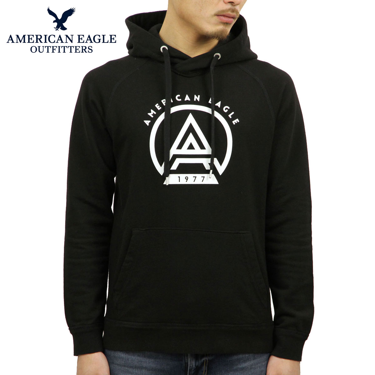 6df47a84 American eagle AMERICAN EAGLE regular article men pullover parka AE FLEECE  THROWBACK COTTON SWEATSHIRT 0193- ...