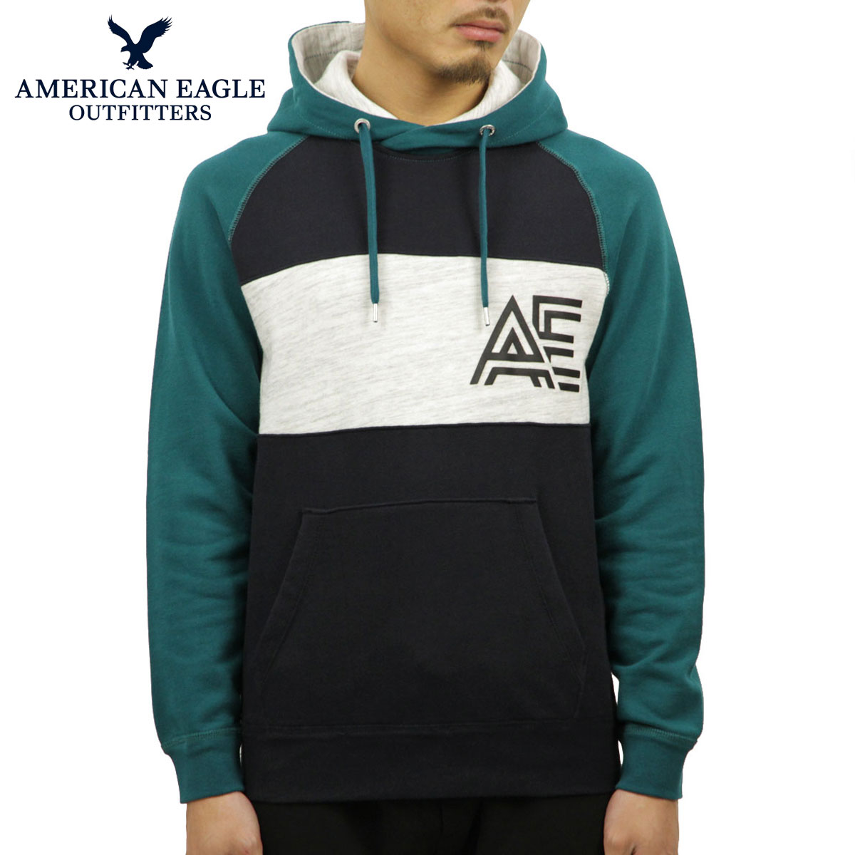 14cdc941bfd American eagle AMERICAN EAGLE regular article men pullover parka AE  COLORBLOCK THROWBACK COTTON SWEATSHIRT 0193-9818-395