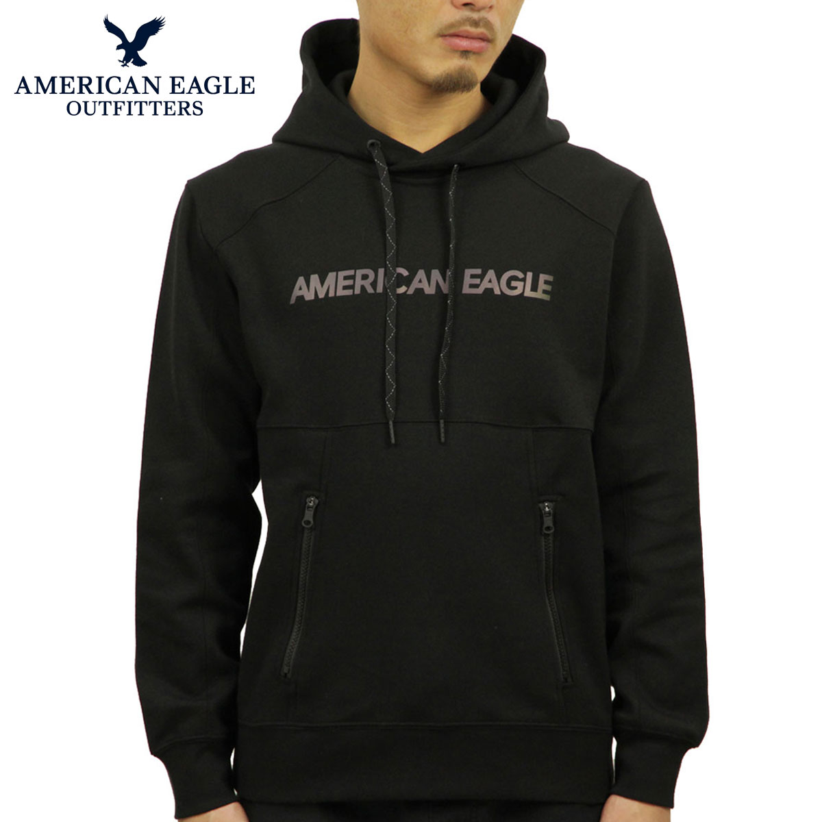 ba34a10f7 American eagle AMERICAN EAGLE regular article men fleece pullover parka AE  ACTIVE REFLECTIVE GRAPHIC POPOVER HOODIE ...