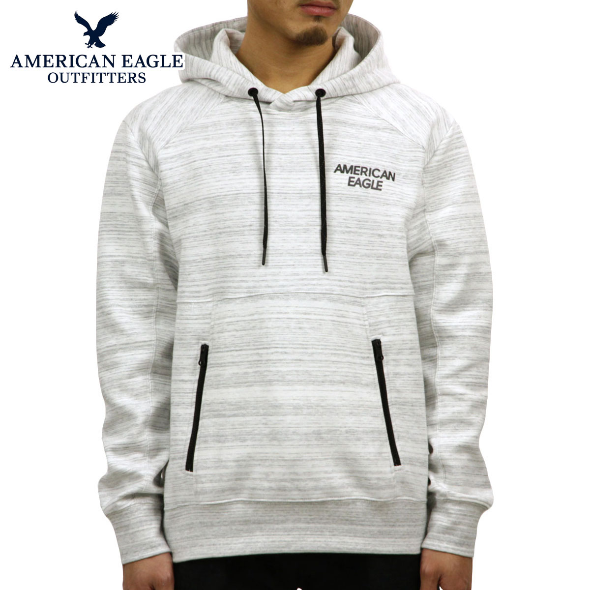 606d5dd9849 American eagle AMERICAN EAGLE regular article men fleece pullover parka AE  ACTIVE REFLECTIVE GRAPHIC POPOVER HOODIE 0193-9792-006