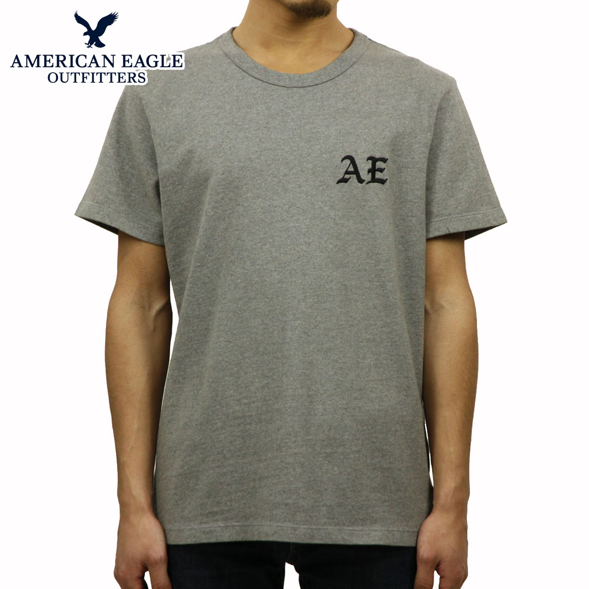 540c9fb2c American eagle AMERICAN EAGLE regular article men crew neck short sleeves T-shirt  AE EMBROIDERED ...