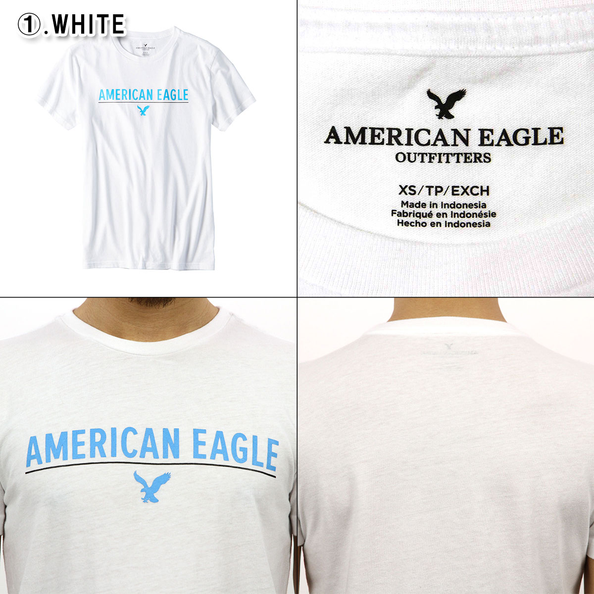 MENS AMERICAN EAGLE AE GRAPHIC T-SHIRT Guys White  XS  Tee