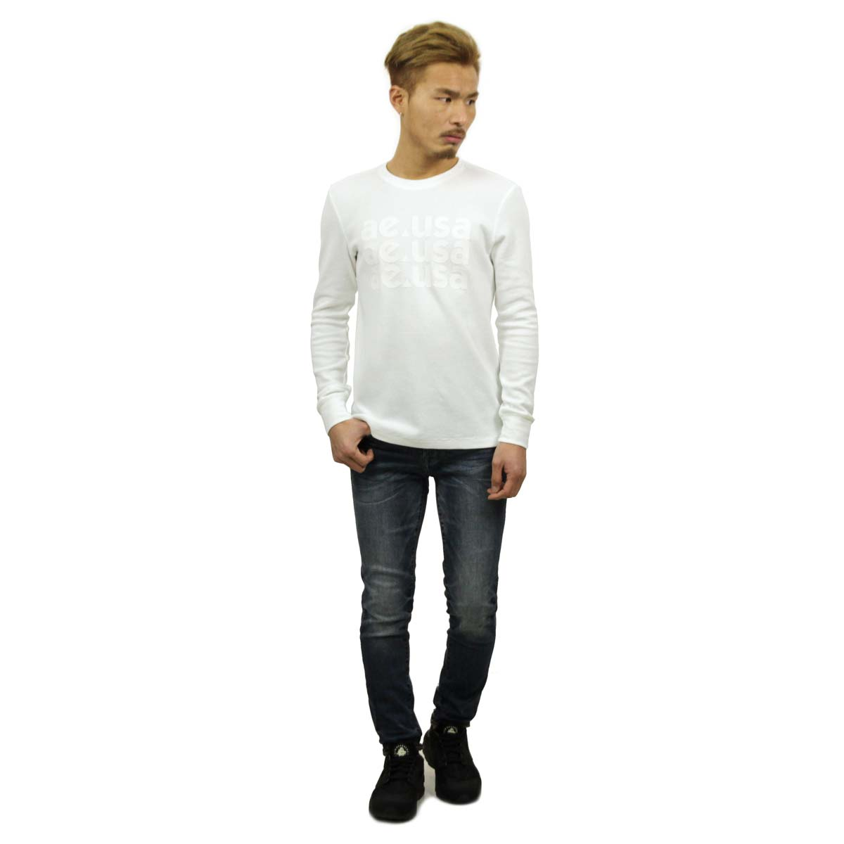 4a19a4d8b ... American eagle AMERICAN EAGLE regular article men thermal crew neck  long sleeves T-shirt Ron ...