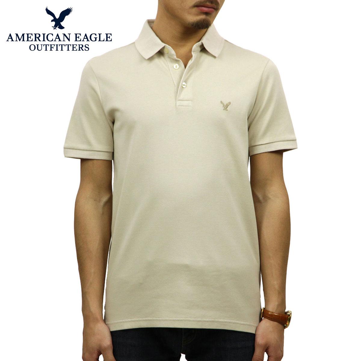 【ポイント10倍 12/19 20:00~12/26 09:59まで】 アメリカンイーグル AMERICAN EAGLE 正規品 メンズ ワンポイントロゴ 半袖ポロシャツ AE Ultra Soft Logo Polo Shirt 1165-8848-212