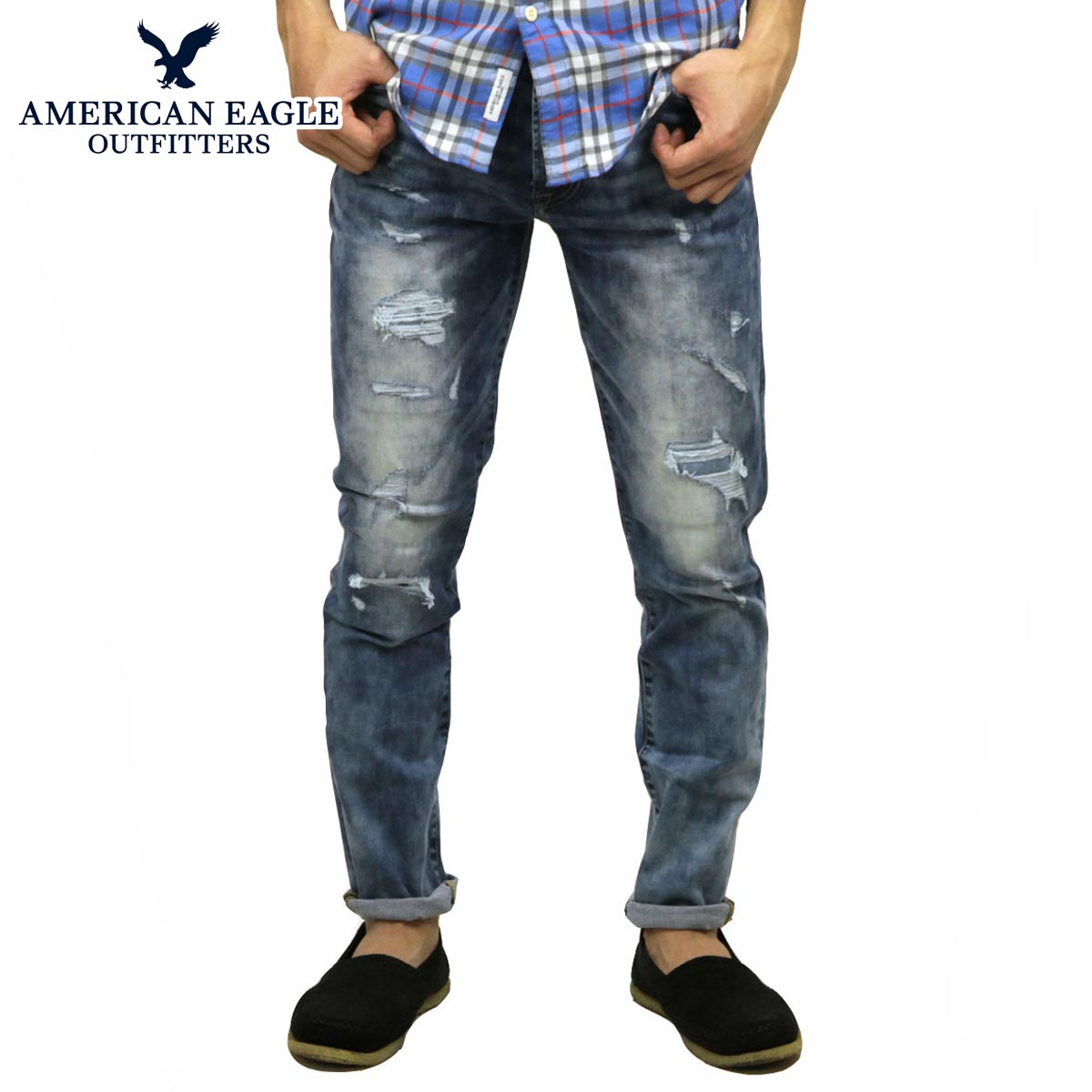 9ea06811 American eagle AMERICAN EAGLE regular article men jeans denim underwear AE  EXTREME FLEX SLIM JEAN 0117 ...