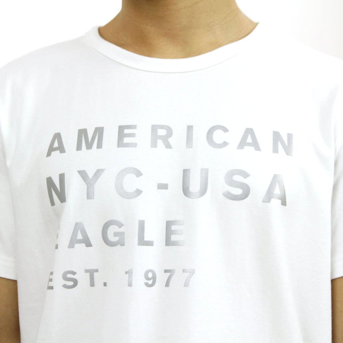 e59e2f7f9 ... American eagle AMERICAN EAGLE regular article men crew neck short  sleeves T-shirt AE REFLECTIVE ...