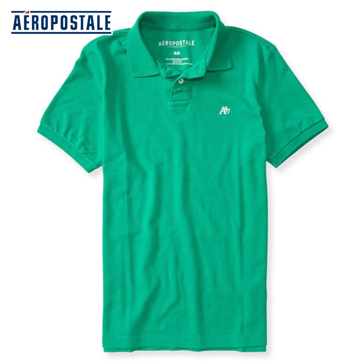 daa390d8871 AeroPOS tail AEROPOSTALE regular article men short sleeves polo shirt A87  Solid Logo Pique Polo 4289 ...