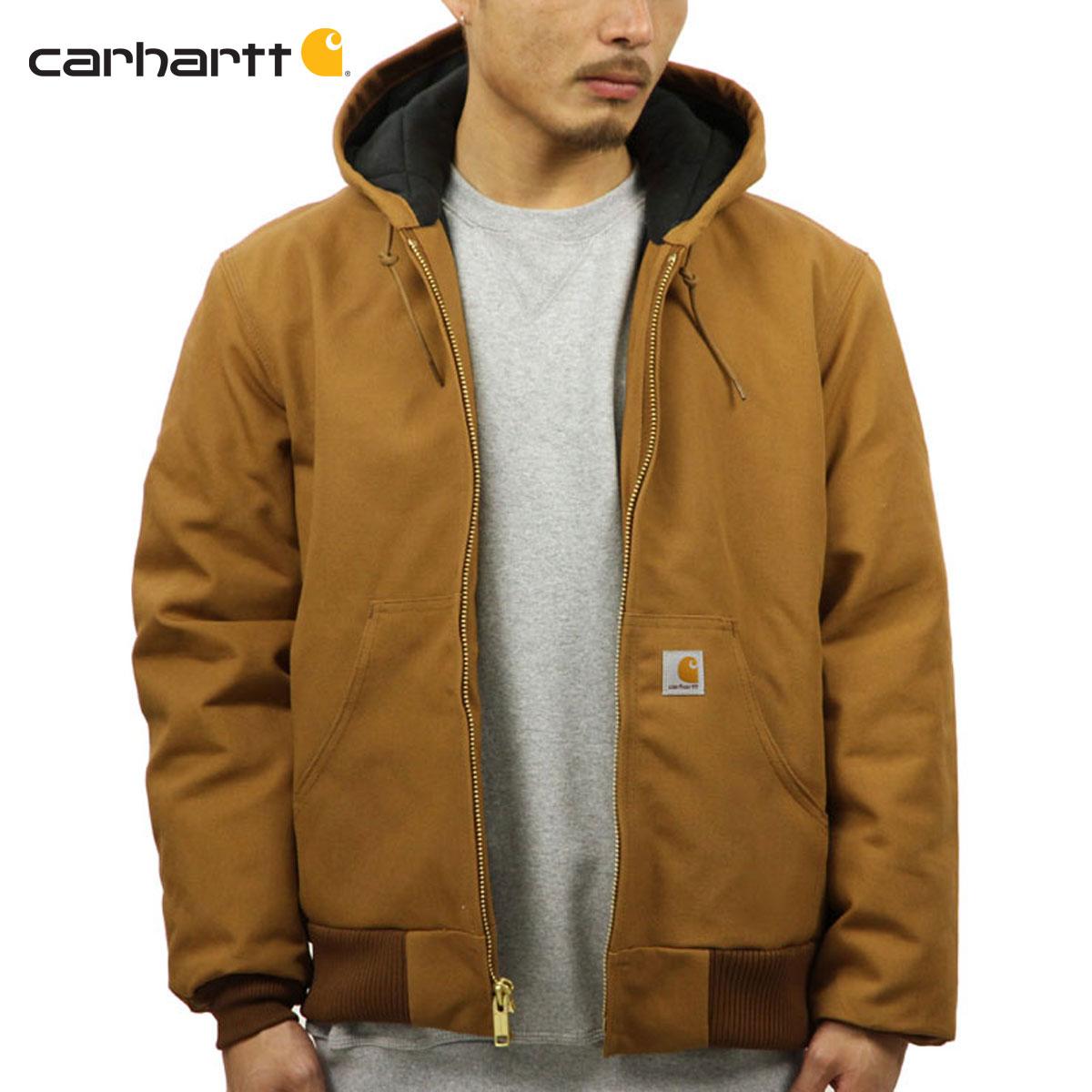 カーハート CARHARTT 正規品 メンズ アウタージャケット QUILTED FLANNEL LINED DUCK ACTIVE JACKET J140-BRN-CARHARTT BROWN