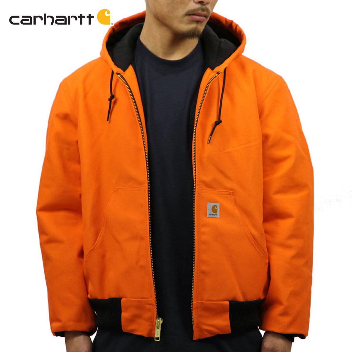 カーハート CARHARTT 正規品 メンズ アウタージャケット QUILTED FLANNEL LINED DUCK ACTIVE JACKET J140 - BLAZE ORANGE