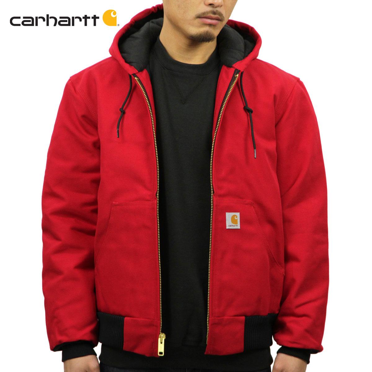 カーハート アウター メンズ 正規品 CARHARTT ジャケット ジャケット QUILTED FLANNEL LINED DUCK ACTIVE JACKET J140 - RED RED