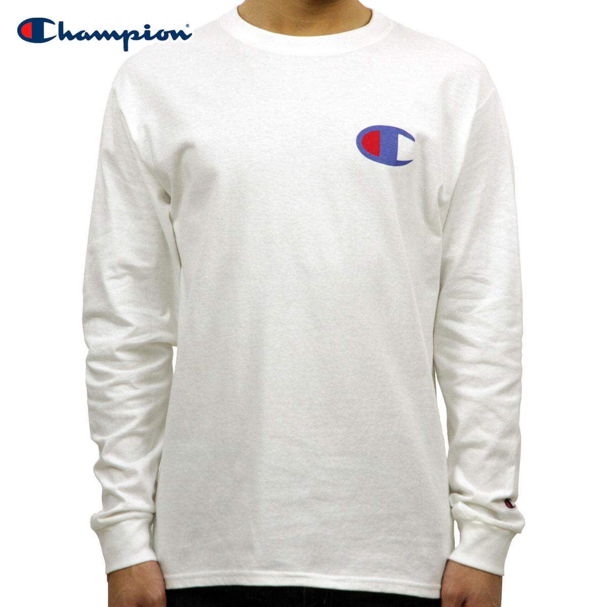0ff3fd3e4f Champion CHAMPION regular article men long sleeves T-shirt L/S TEE T2229P  Cotton Long Sleeve Tee 045-WHITE #549506 PATRIOTIC C LS D00S20