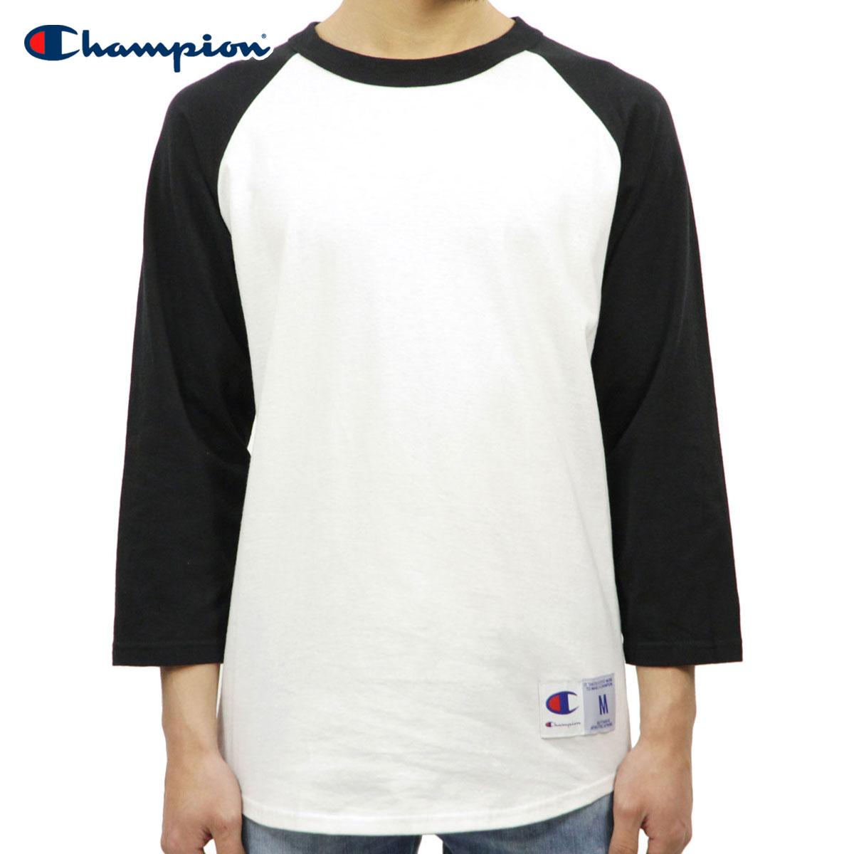 a94b6b103a Champion CHAMPION regular article men long sleeves T-shirt RAGLAN TEE T1370  Raglan 3/4 Jersey 074-WHITE/BLACK D00S20