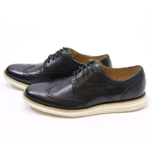 887e4163e Cole Haan COLE HAAN genuine dress shoes LUNARGRAND WING. TIP C14110  (BLACK IVORY)