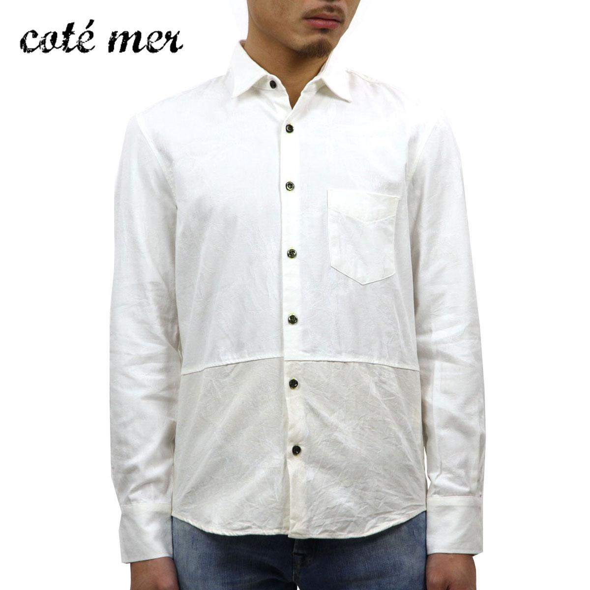 コートメール Cotemer 正規販売店 メンズ シャツ SHIRT SH-S13-012 WHITE-IVORY D15S25