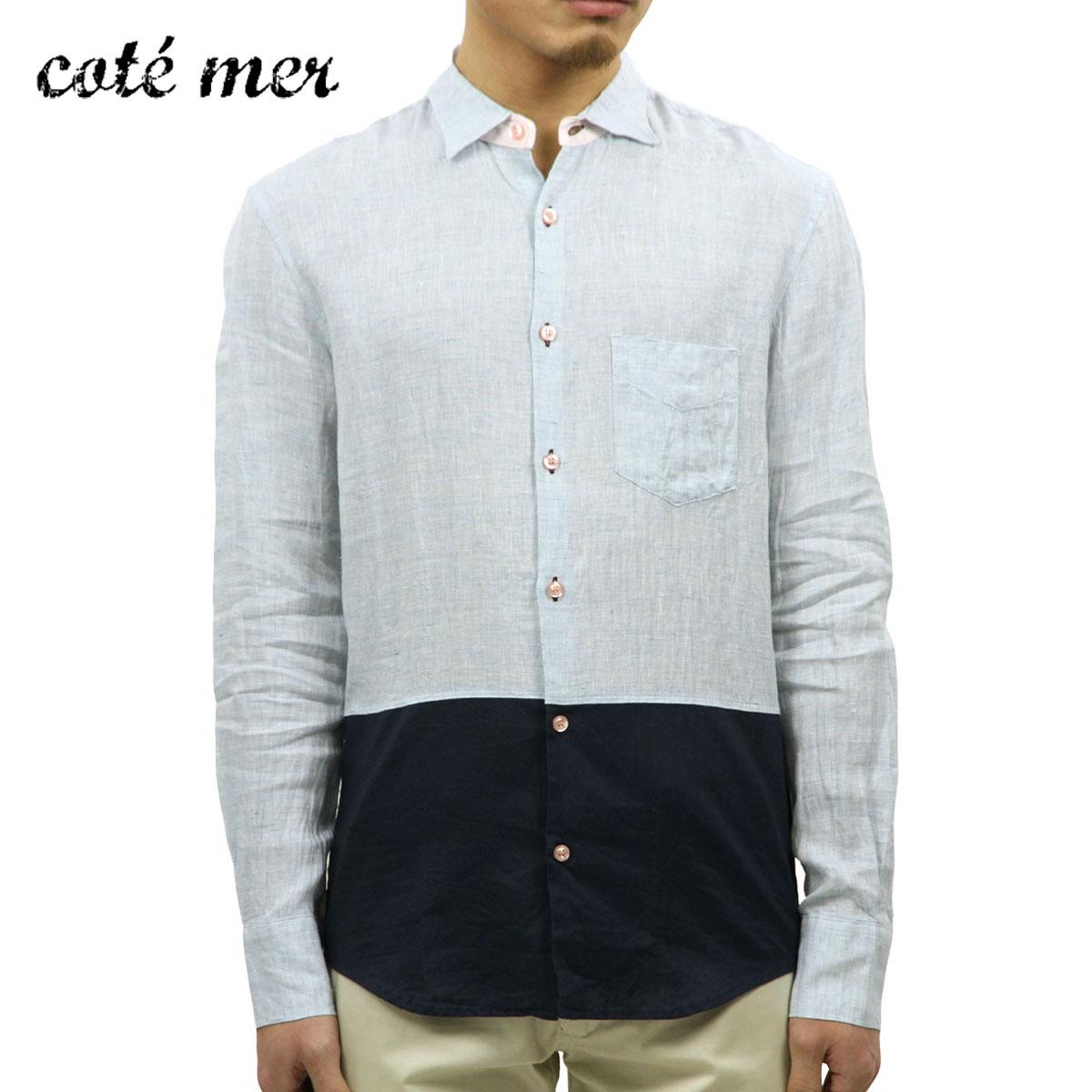 コートメール Cotemer 正規販売店 メンズ シャツ SHIRT SH-S13-013 NAVY-BLUE D15S25