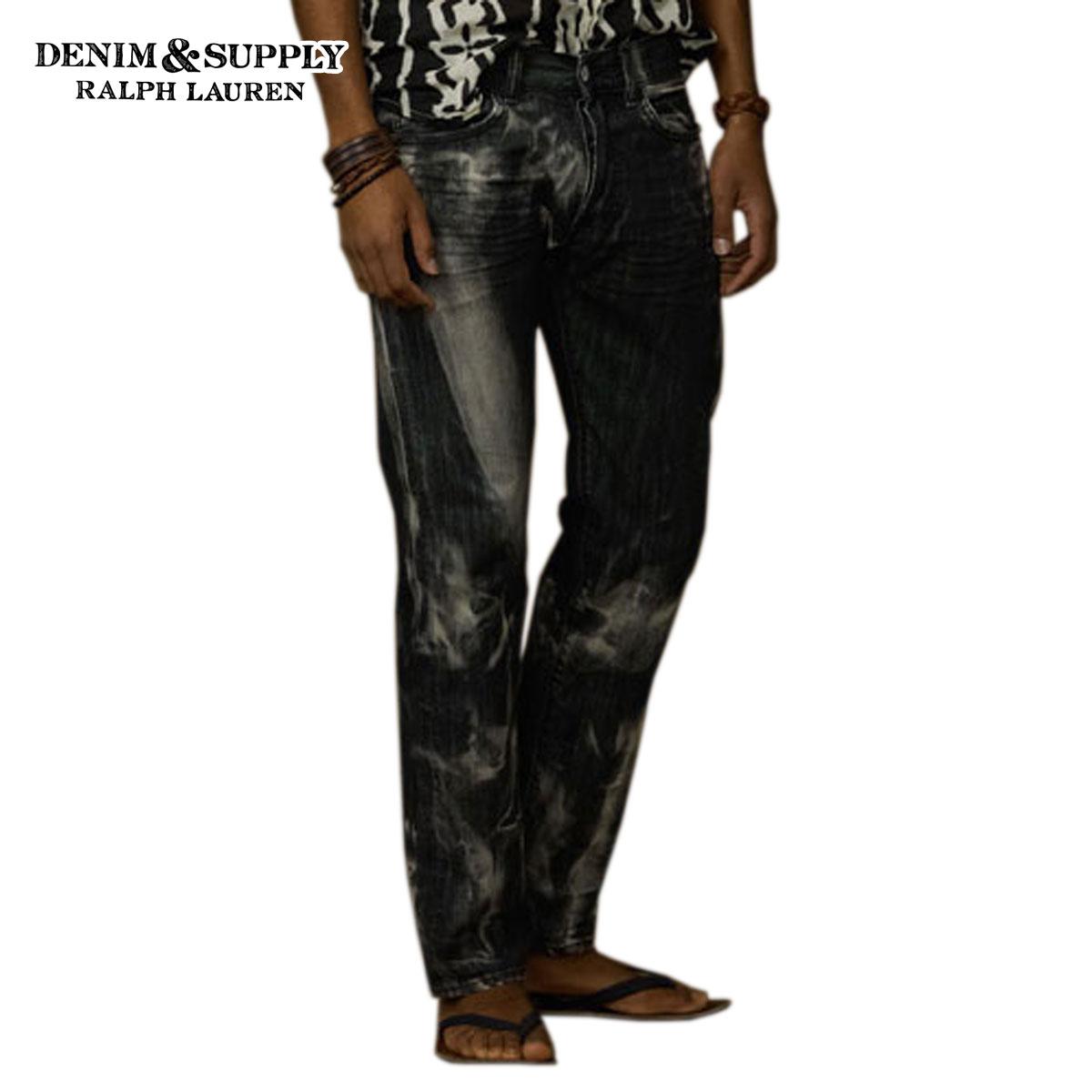 デニムアンドサプライ ポロ ラルフローレン DENIM&SUPPLY RALPH LAUREN 正規品 メンズ ジーンズ Slim-Fit Bleached Jean BLACK D20S30