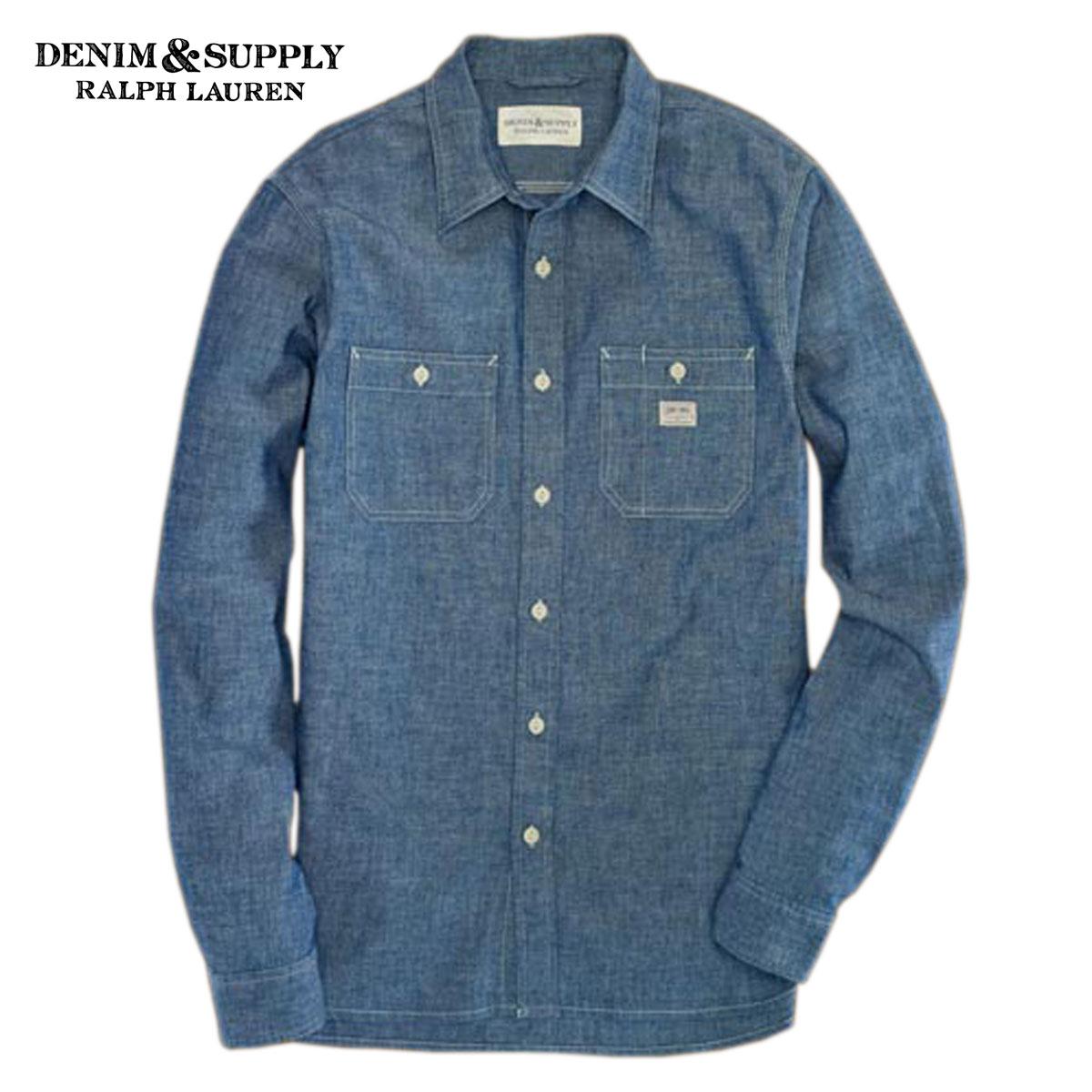 f118731f40 Denimandsurpriralfloren DENIM SUPPLY RALPH LAUREN genuine men s  long-sleeved shirt SELVEDGE CHAMBRAY WORKSHIRT