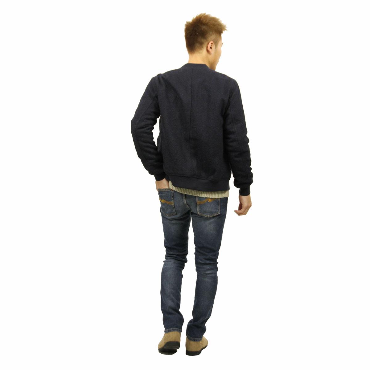 ディストレス DSTREZZED 正規販売店 メンズ ジャケット MA-1 HEAVY HERRINGBONE WOOL BOMBER JACKET 101171 49 DK. NAVY