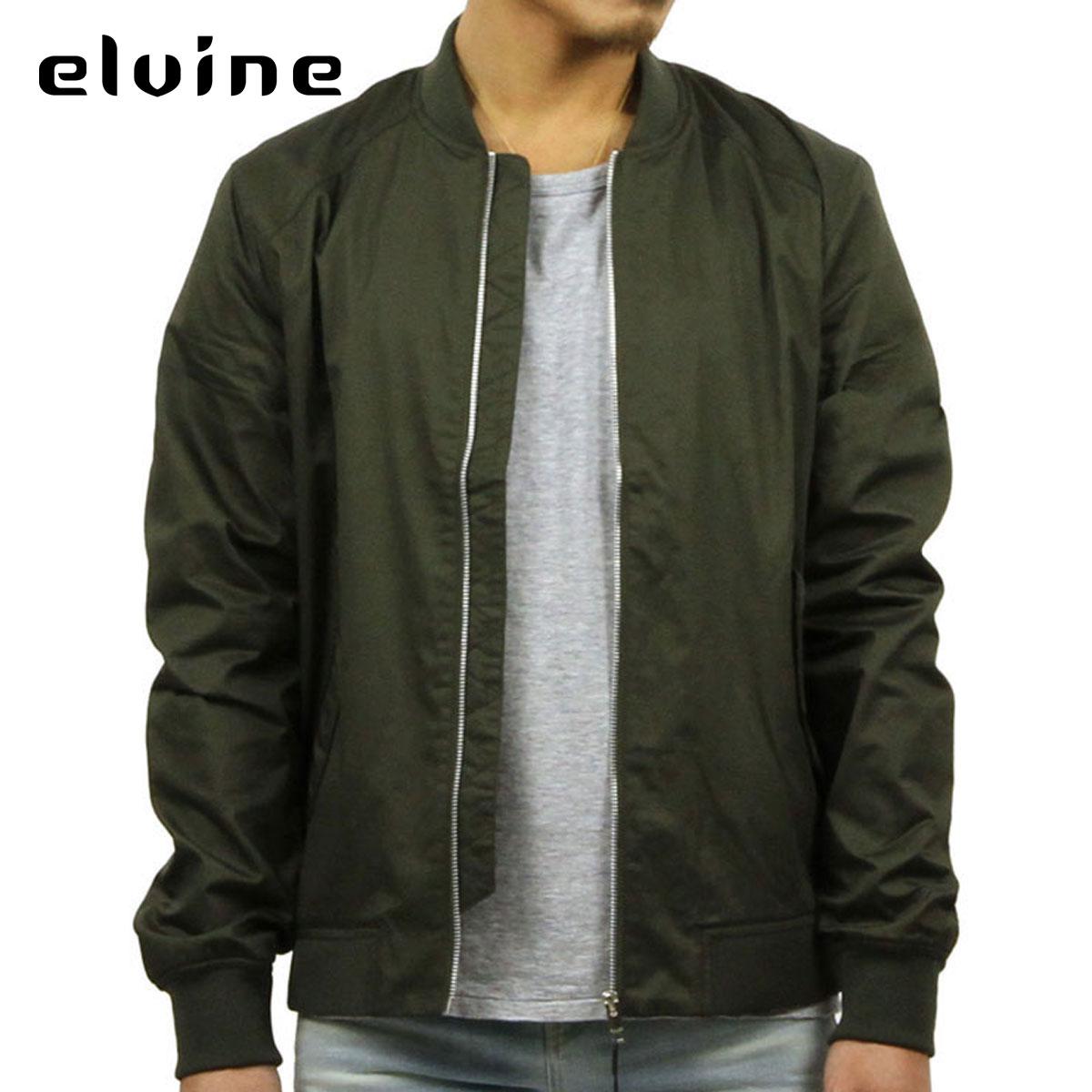 エルバイン elvine 正規販売店 メンズ MA-1 MA-1 BOMBER JACKET DK OLIVE 1027 128 D00S15