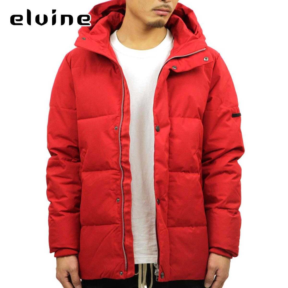 エルバイン elvine 正規販売店 メンズ アウター ダウンジャケット BRUNO SORONA ECO DOWN TOUCH JACKET 183015 RED