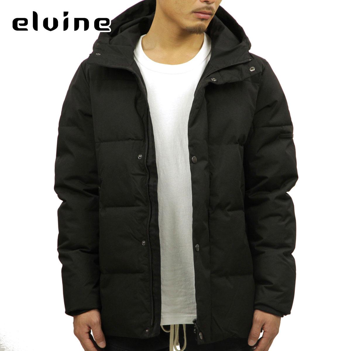 エルバイン elvine 正規販売店 メンズ アウター ダウンジャケット BRUNO SORONA ECO DOWN TOUCH JACKET 183015 BLACK