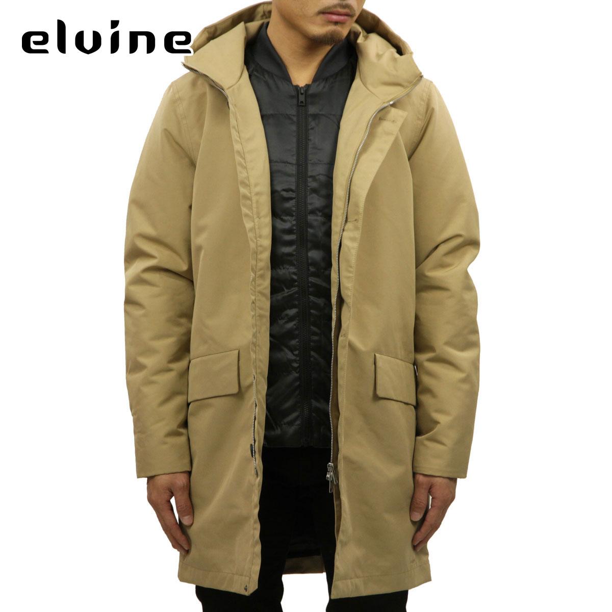 エルバイン elvine 正規販売店 メンズ アウター フードジャケット ELOF THERMOSOFT LONG JACKET 183019 CAMEL