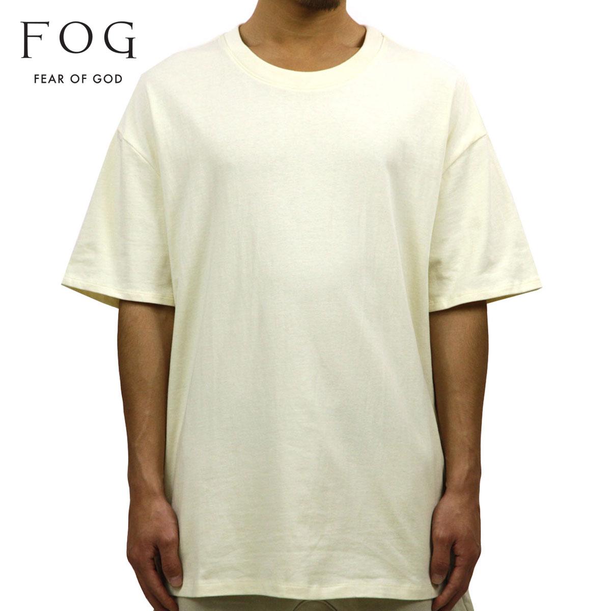 フィアオブゴッド FEAR OF GOD 正規品 メンズ クルーネック 無地 半袖Tシャツ FOG - FEAR OF GOD ESSENTIALS BOXY T-SHIRT CREAM