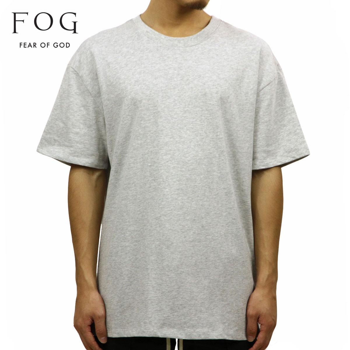 フィアオブゴッド FEAR OF GOD 正規品 メンズ クルーネック 無地 半袖Tシャツ FOG - FEAR OF GOD ESSENTIALS BOXY T-SHIRT HEATHER GREY