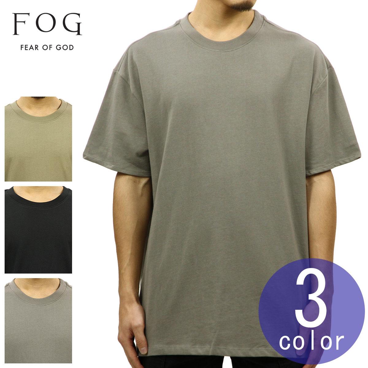 232619fe7574 Fear of god FEAR OF GOD regular article men plain fabric short sleeves T- shirt ...