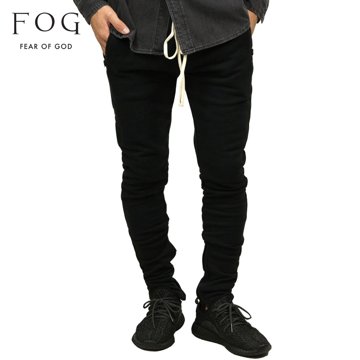 フィアオブゴッド FEAR OF GOD 正規品 メンズ ジョガーパンツ FOG - FEAR OF GOD ESSENTIALS DRAWSTRING PANTS BLACK