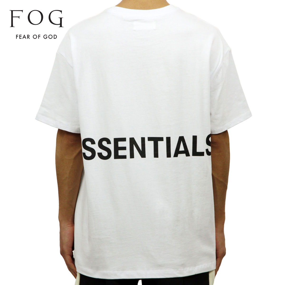 フィアオブゴッド FEAR OF GOD 正規品 メンズ クルーネック バックプリント 半袖Tシャツ FOG - FEAR OF GOD ESSENTIALS BOXY GRAPHIC T-SHIRT WHITE