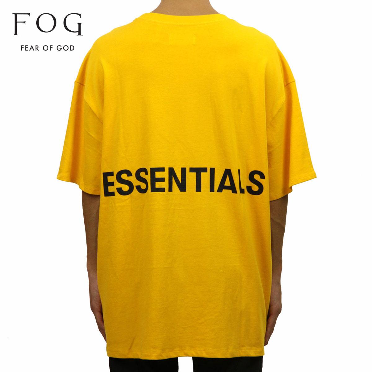 フィアオブゴッド FEAR OF GOD 正規品 メンズ クルーネック バックプリント 半袖Tシャツ FOG - FEAR OF GOD ESSENTIALS BOXY GRAPHIC T-SHIRT YELLOW