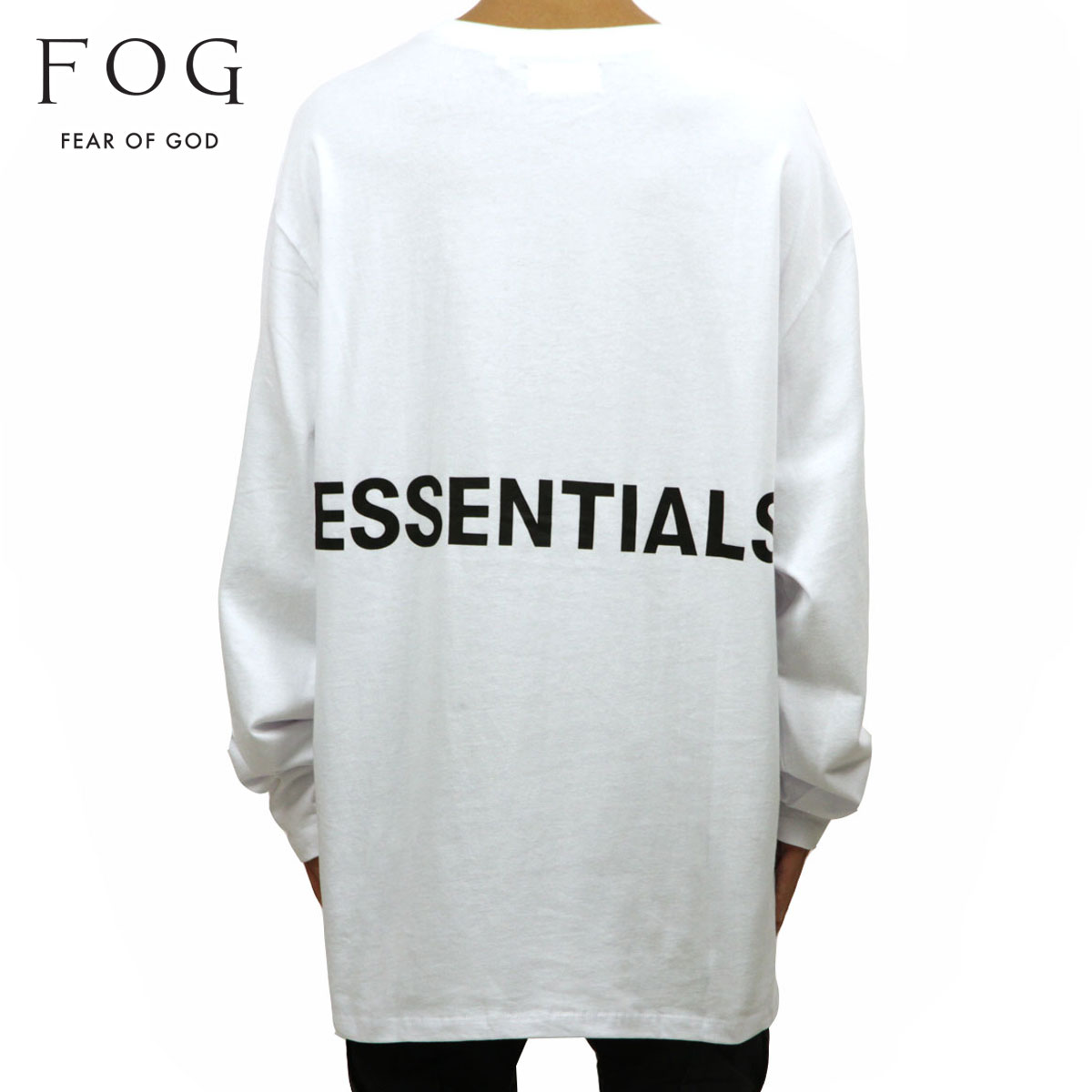 70867238e Fear of god FEAR OF GOD regular article men crew neck back print long  sleeves T-shirt FOG - FEAR OF GOD ESSENTIALS BOXY GRAPHIC LONG SLEEVE  T-SHIRT ...