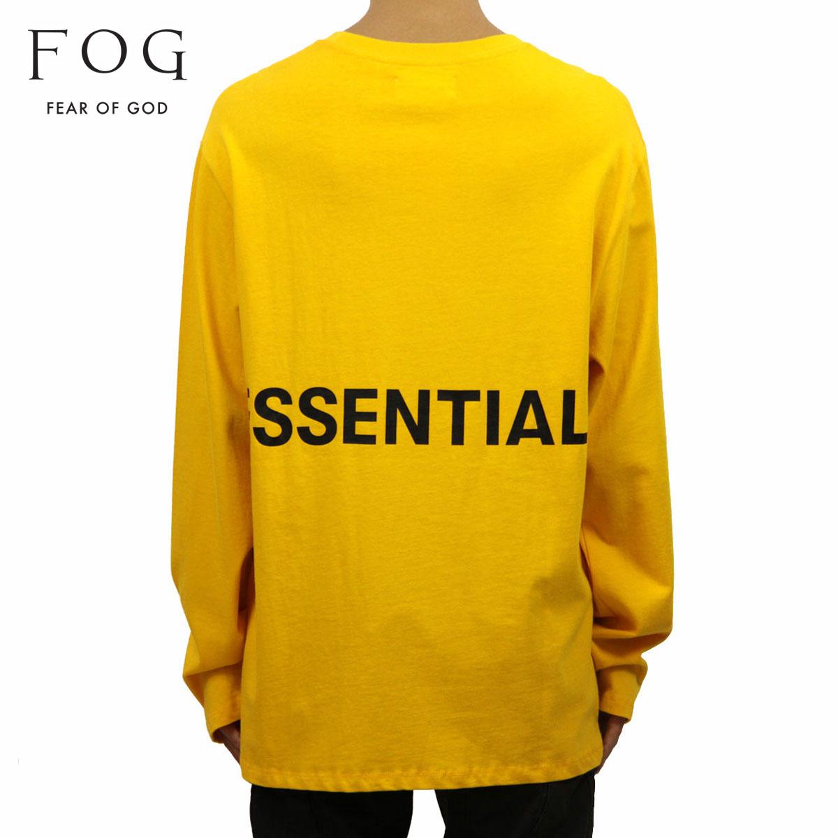 フィアオブゴッド FEAR OF GOD 正規品 メンズ クルーネック バックプリント 長袖Tシャツ FOG - FEAR OF GOD ESSENTIALS BOXY GRAPHIC LONG SLEEVE T-SHIRT YELLOW