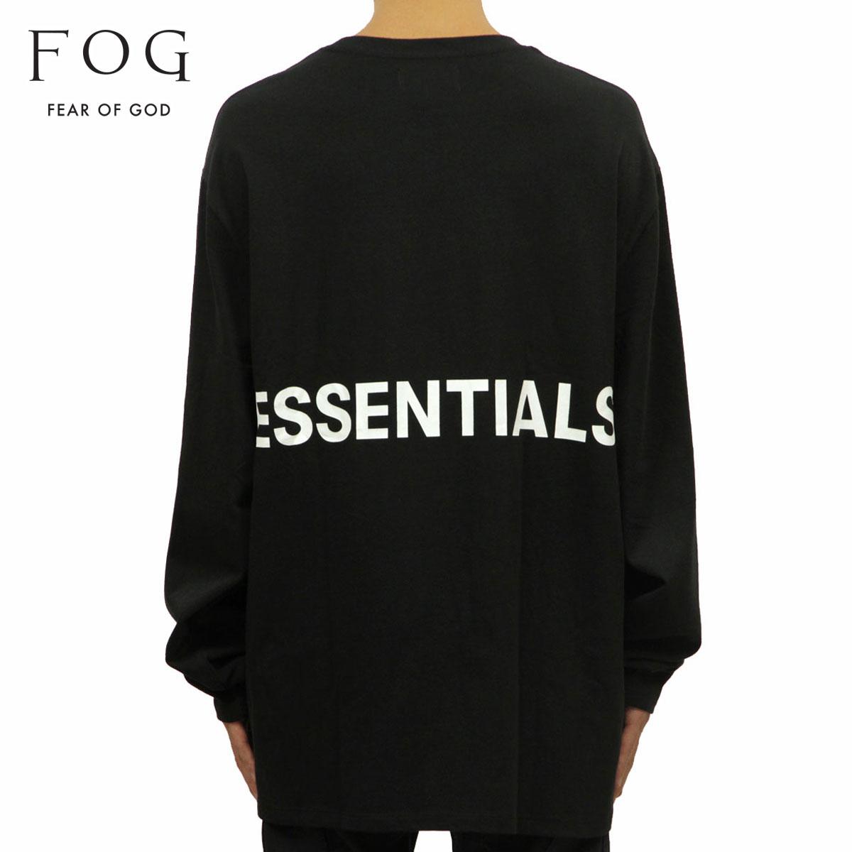 フィアオブゴッド FEAR OF GOD 正規品 メンズ 長袖Tシャツ FOG - FEAR OF GOD ESSENTIALS BOXY GRAPHIC LONG SLEEVE T-SHIRT BLACK
