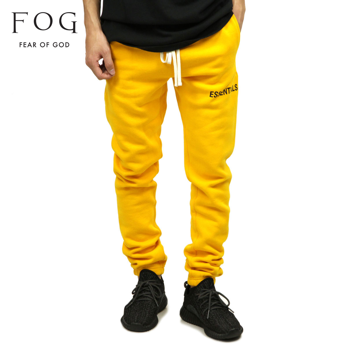 favorable price hot sale purchase authentic Fear of god sweat shirt men's regular article FEAR OF GOD trainer underwear  FOG - FEAR OF GOD ESSENTIALS GRAPHIC SWEATPANTS YELLOW