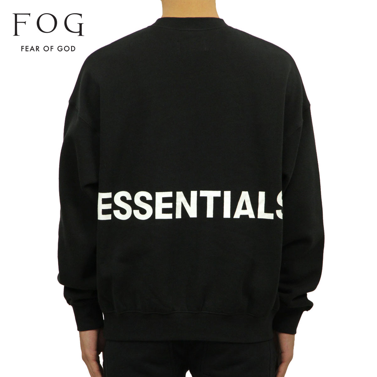 2bf330bdd Fear of god FEAR OF GOD regular article men back print sweat shirt FOG -  FEAR OF GOD ESSENTIALS CREW NECK SWEATSHIRT BLACK