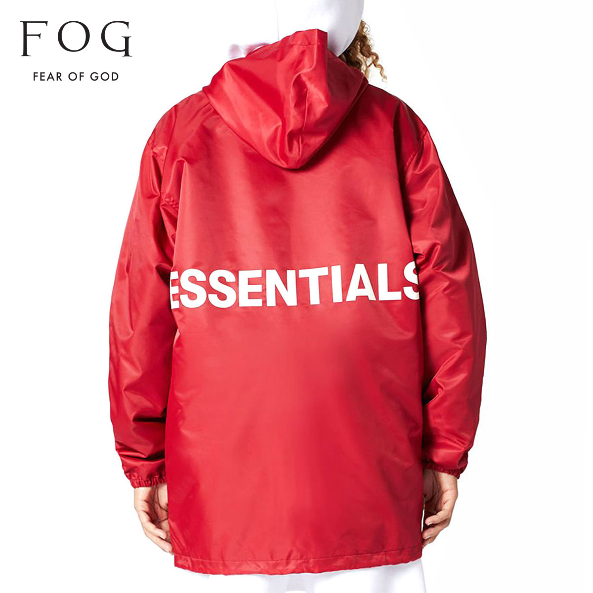 cc686ad68 Fear of god outer men's regular article FEAR OF GOD jacket coach jacket FOG  - FEAR OF GOD ESSENTIALS HOODED COACH JACKET RED