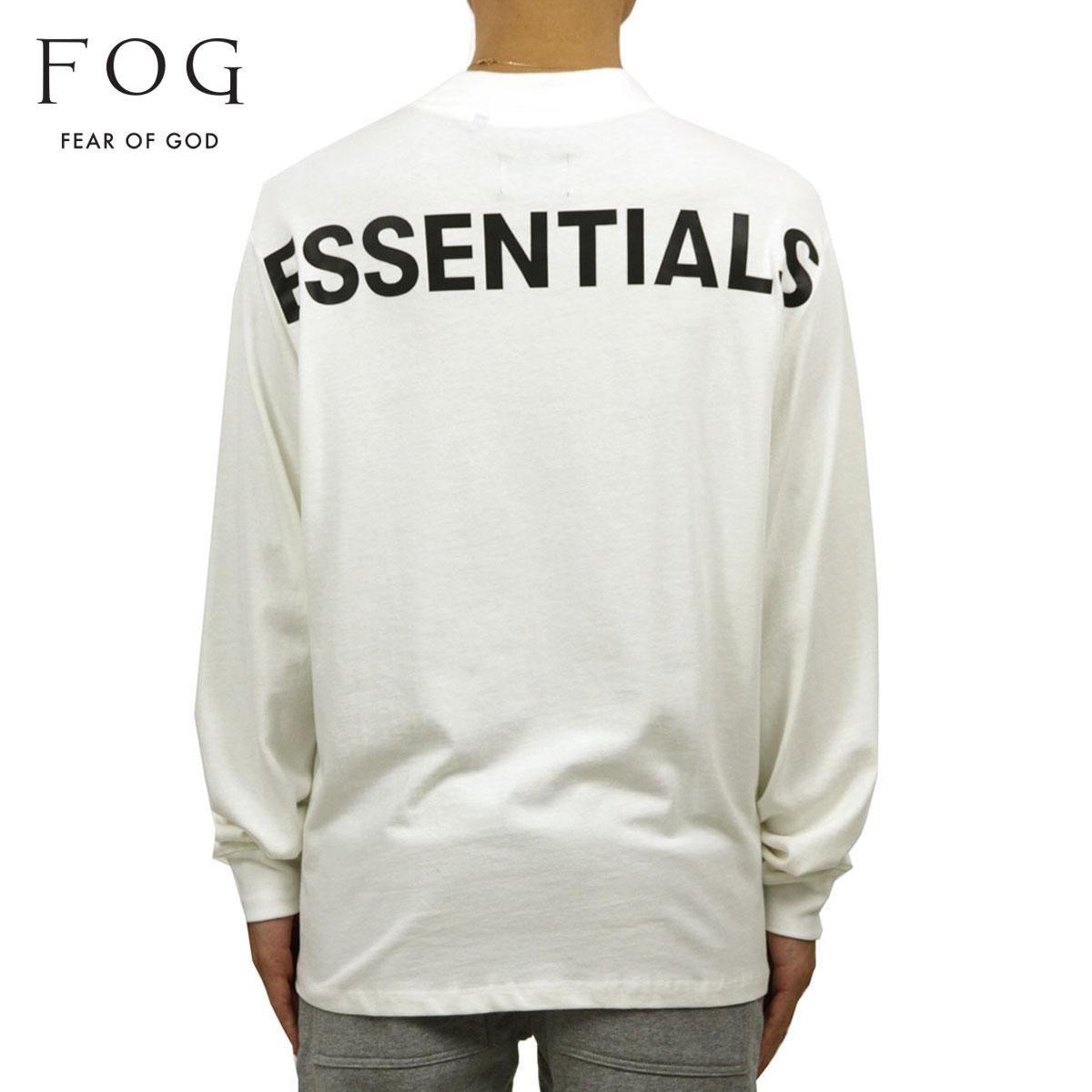 フィアオブゴッド Tシャツ 正規品 FEAR OF GOD 長袖Tシャツ クルーネック ロゴ FOG - FEAR OF GOD ESSENTIALS LONG SLEEVE BOXY T-SHIRT WHITE