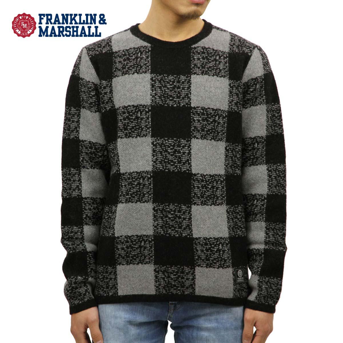 フランクリン マーシャル FRANKLIN&MARSHALL 正規販売店 メンズ セーター BUFFALO CHECK SWEATER GREY MELANGE KNMAL049AN 6025 D00S20